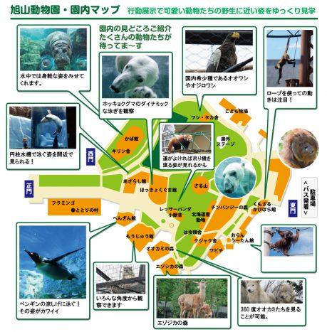 旭山動物園・園内マップ